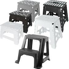 Small/Large Plastic Folding Step Stool Foldable Multi Purpose Dual Step Stool