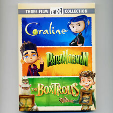 Coraline, ParaNorman, BoxTrolls, 3 PG family movies, new DVDs, Laika stop-motion