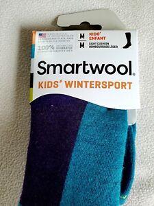 Smartwool Kids Ski Wintersport Over The Calf Socks Cushioned Sz Medium 12-2.5