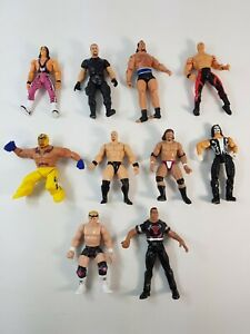Wrestling Figure Bundle WWF WCW WWE Bret Hart Big Boss Man Sting Luger Rock