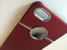 Deluxe RED Hard Case Cover Chrome for Apple iPhone 5 5S SE + SCREEN Protector