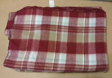"Tennessee Woolen Mills Master Weavers Blanket Throw Red Brown Plaid 65"" x 92"""