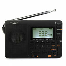 TIVDIO FM/AM/SW Radio Bass Sound MP3 Player REC Voice Recorder Sleep Timer track
