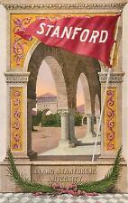 STANFORD UNIVERSITY, California  CA    Poster Style    1909  Pennant  Postcard