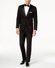 Perry Ellis Portfolio Men Black Slim Fit Suit Jacket Sport Coat Blazer 46 R