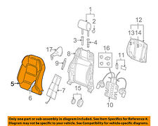 AUDI OEM 09-13 A3 Front Seat-Cushion Cover-Top Back Left 8P0881805BRP92