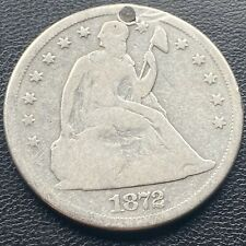 1872 S Seated Liberty One Dollar $1 VERY RARE VG Details San Francisco #23751