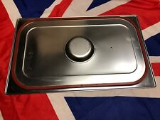 British Army Stainless Steel Full Size 1/1 Gastronorm Lid with Spill Proof Seal
