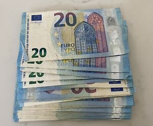 €60 Euros Holiday Money Leftover - 20 Eur Notes X 3. Quick Delivery