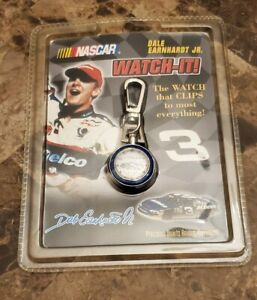 Rare 1999 Watch-It! NASCAR Driver Dale Earnhardt Jr #3 Clip Watch Collectible