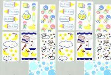 BIG Lot of BABY Child Bath Scrapbook Stickers 14 Sheets Rubber Duck Sun Moon