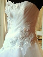 Brand New with Tags Designer Wedding Dress Bridal Gown Organza FREE OZ SHIPPING