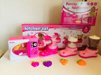 KITCHEN TOYS,MICRO,JUCER,BLENDER,CANDY MAKER ,PINK CLOUR WITH LIGHT AND SOUND