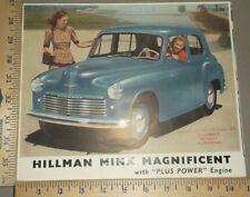 Hillman Minx Magnificent Folder Brochure US Import