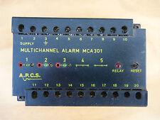 A.P.C.S. MCA301-55550010 MULTICHANNEL ALARM RELAY 8-60VDC. INPUTS (3) RTD PT100
