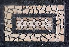 "22 3/8"" x 14 7/8"" Tumbled Stone & Granite Medallion - Blue Pearl , floor or wall"
