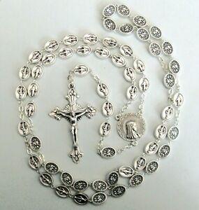 Handmade Miraculous Medal Beads Rosary