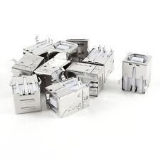 """10 stk PCB Mount 90 Degree 4 Pin USB 2.0 Typ B Buchse Buchse 12mm / 0,5 """""""""""