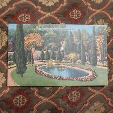 Vintage Postcard A Beautiful Garden In Savannah, Ga.