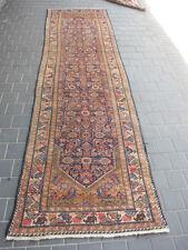 Antique persian runner Rug Carpet  Rare Hand Made 337x97-cm /132.6x38.1-inches