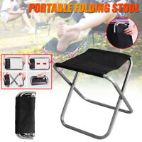 Portable Folding Chair Stool Camping Stool Outdoor Fishing Backyard BBQ Seats ~