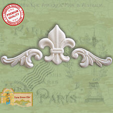 Shabby Chic French Furniture Appliques Moldings Fleur de lys Vintage Decor Art