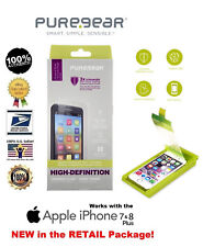 PureGear HD Tempered Screen Protector (w/ Install Tray) Apple iPhone 7+ 8+ PLUS