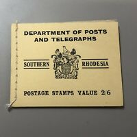 SOUTHERN RHODESIA 1938 booklet SG# SB4, CV £375, all in superb condition