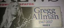 NY Daily News 5/28/17 Newspaper Greg Allman Dead 1947-2017 Beatles Sgt. Peppers