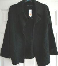 Cardigan Jacket Black Size Small 8 - 10 M&s Ladies Top Textured
