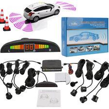 Car Rear Reverse Parking 8 Sensors Reversing Buzzer Alarm Kit LCD Monitor Black