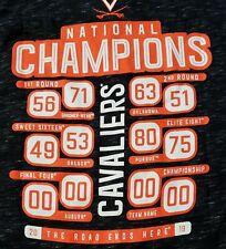 Virginia Cavaliers Fanatics 2019 National Champions T-Shirt NCAA Sz L Large Mens