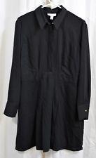 Topshop Pleated Mini Shirt Dress Black Size US 10