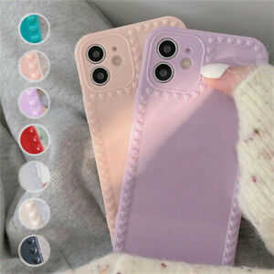 Case For iPhone 12 11 Pro Max XR XS 6s 7 8 Love Hearts Shockproof Silicone Cover