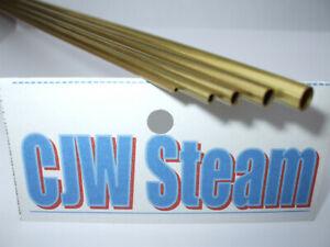 "PACK 3 X K&S 1/16"" 1.59mm DIA OD BRASS TUBE PIPE Model engineer Live steam"