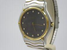 L89⭐⭐ VINTAGE EBEL WAVE STAHL GOLD & Diamanten Armbanduhr mit Papiere ⭐⭐