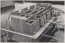 D3177 Napoli - Allargamento del pontile Masaniello - Stampa d'epoca - 1927 print