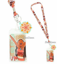 Disney Moana Movie Print Lanyard Neckstrap With Rubber Flower Charm Loungefly