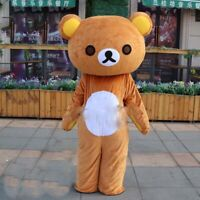 Brown Bear Mascot Costume Outfit Halloween Adults Cosplay Party Fancy Dress