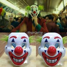 2019 Movie Joker Clown Mask Arthur Fleck Joaqin Phoenix Halloween Prop Cosplay