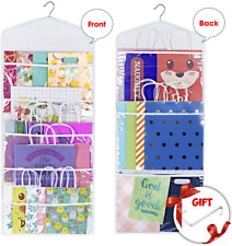 Primode Gift Bag Storage Organizer with Multiple Front and Back Pockets, Hanging
