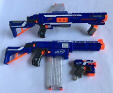 NERF Gun Lot - RAMPAGE, RETALIATOR, Micro Shot & 2- 18rd Clips Clean And Ready!!