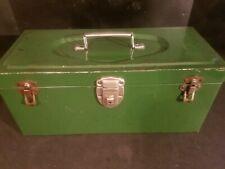 Vintage Excelsior Metal Storage Box Tool 3 Latch No Key
