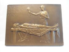 RARE BRONZE MEDAL PLAQUE BY PRUDHOMME - DEATH BODY - PROF. MAURICE LETULLE