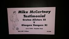 Gretna All Stars v Rangers x1 Testimonial Ticket  97/98