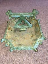 Beautiful Vintage Victorian Old painted cast iron outdoor gothic foot scraper