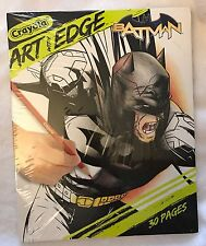 Crayola Art with Edge: Batman Collection Adult Kids Coloring Book - NEW SEALED