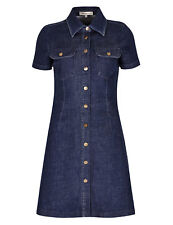 M&S LIMITED EDITION Denim Button Through Shirt Dress & Skinny Dungarees Size UK6