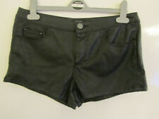 River Island Studded Black PVC Style PU Hot Pants / Shorts in Size 12