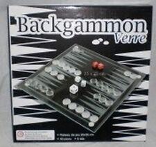Jeu de Backgammon en verre - Plateau de 20 * 20 - 30 pions - 5 dés